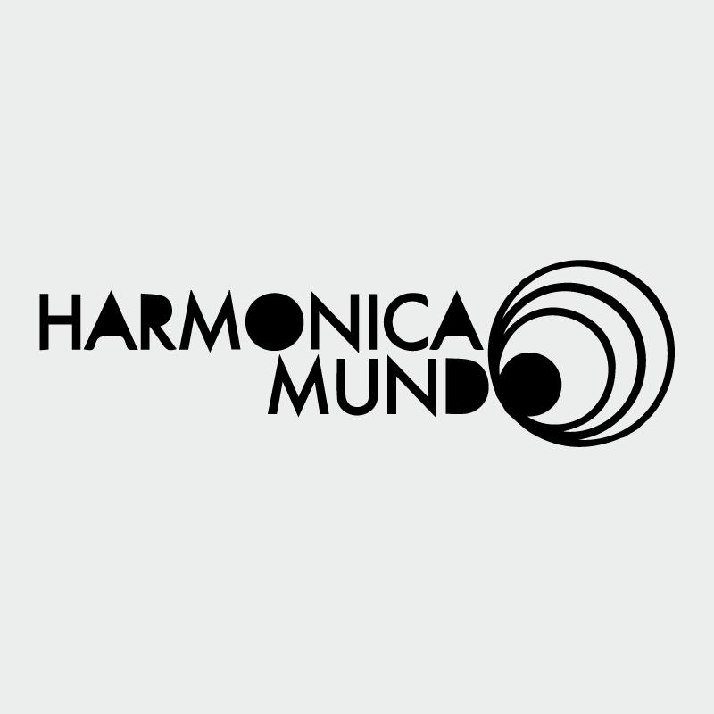 Logo action culturelle Harmonica Mundo en noir