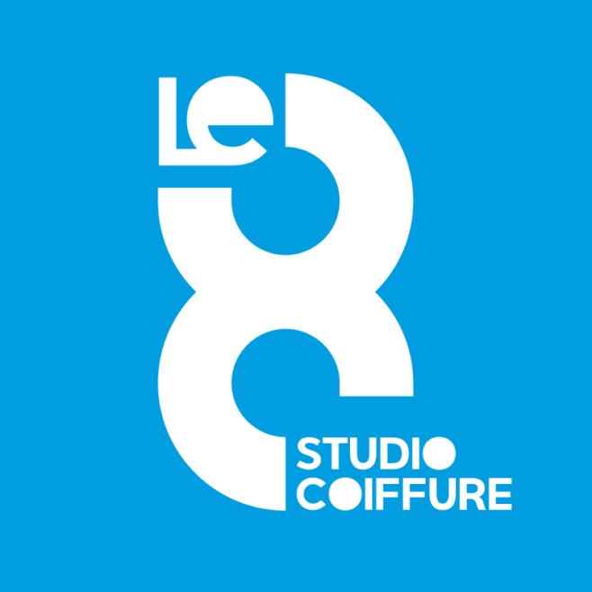 Logo studio coiffure le 8